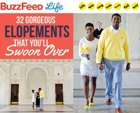 Fotos by Fola Yellow Courthouse Wedding Featured on BuzzFeed