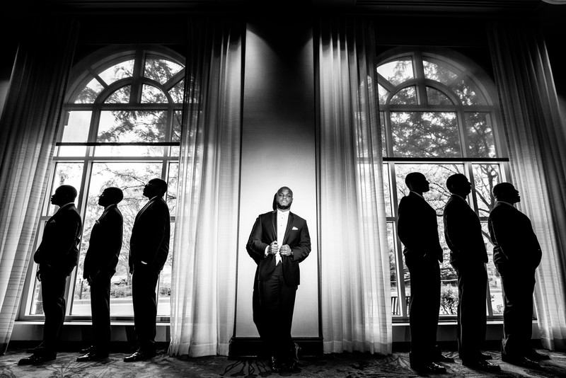 Westin Annapolis Wedding Photographer Groom and guys