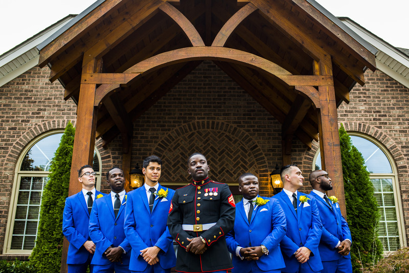 Glendalough Manor Wedding Liberian Wedding Groomsmen