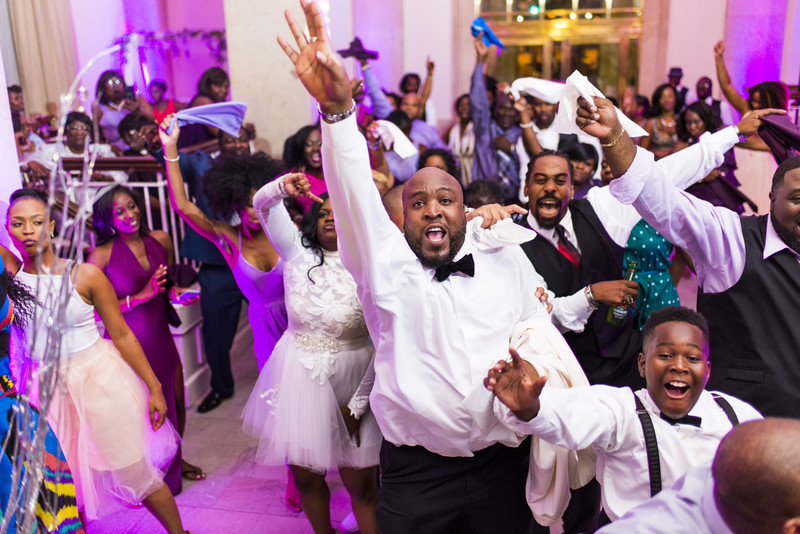Venetian Room Atlanta Wedding Photographer Partying