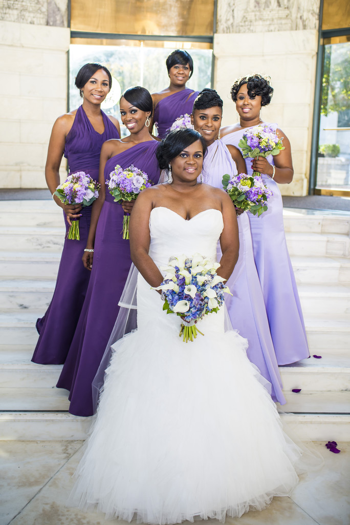 Venetian Room Atlanta Wedding Photographer Bride and Girls