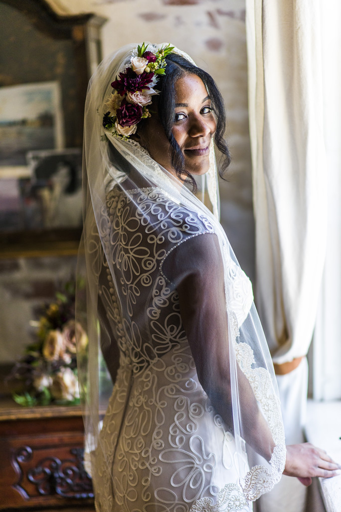 Race and Religious New Orleans Wedding Photographer Bride 1
