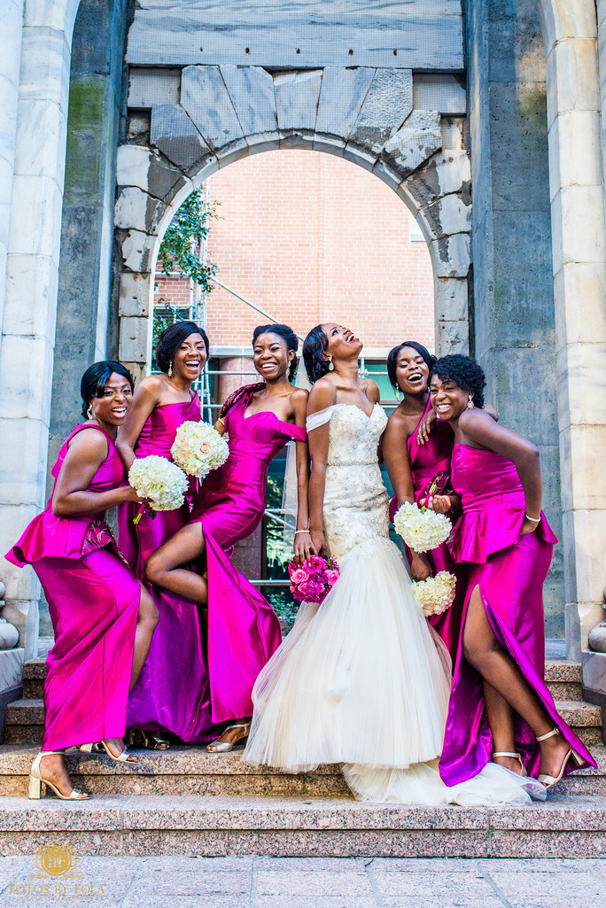 Atlanta Wedding Photographer Bride Bridesmaids Laugh