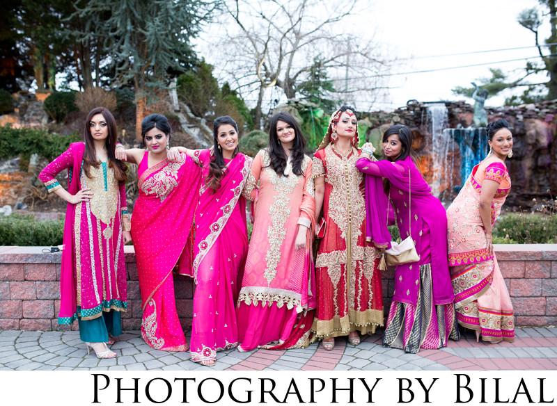Pakistani Bridesmaids Wedding Photos Lucien's Manor NJ