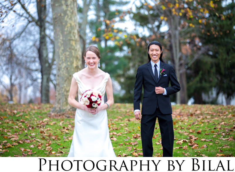 First Look Wedding Photos Washington Crossing PA