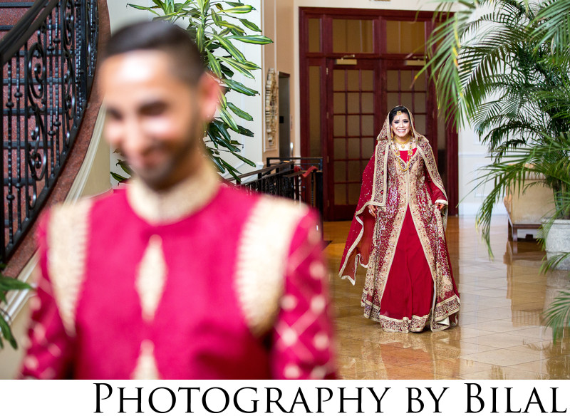 First look in a Pakistani Wedding