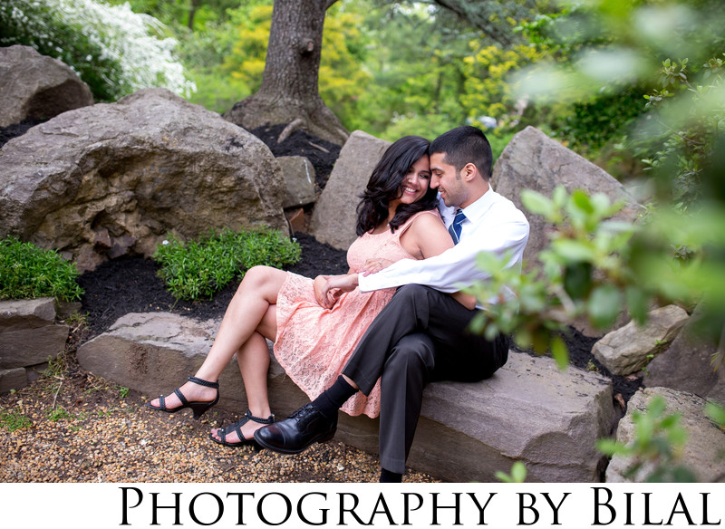 Sayen Gardens engagement pictures