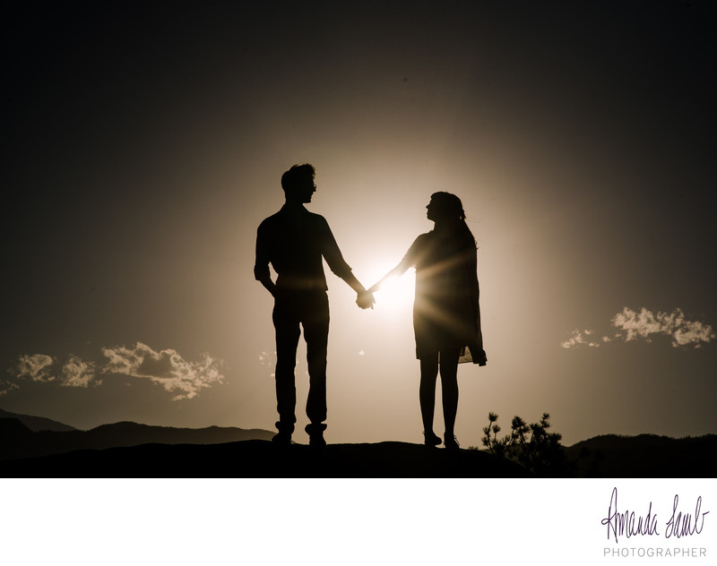 Romantic Engagement Session in Garden of the Gods