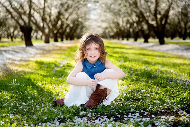 Almond blossom Children's portraits Tracy California