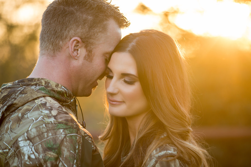 Romantic Hunting Camo Gear engagement session