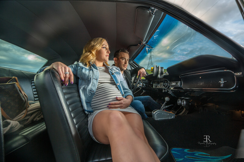 Classic Cars Muscle cars Maternity session