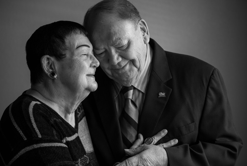 Love between Grandparents portrait, Tracy California Photographer