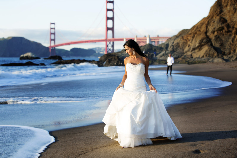 Baker beach wedding san francisco ca