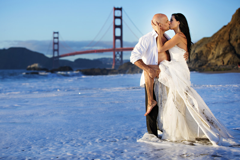 Baker Beach San Francisco California Wedding-Trashdress