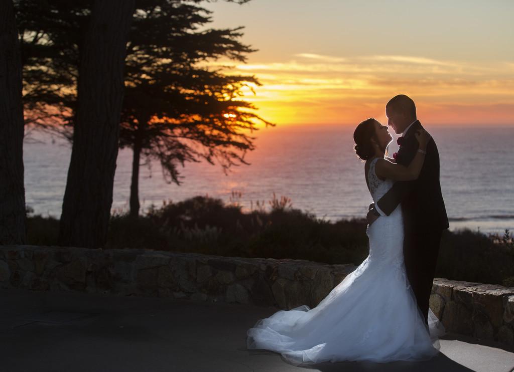 Sea scape wedding sunset, sea scape weddings