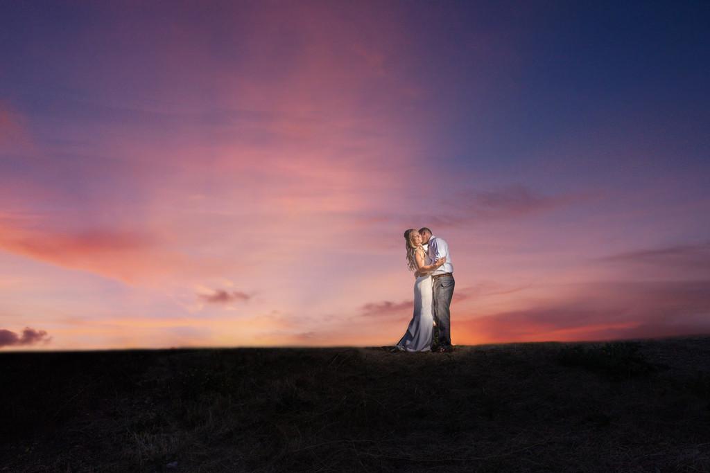 Epic sunset wedding photography