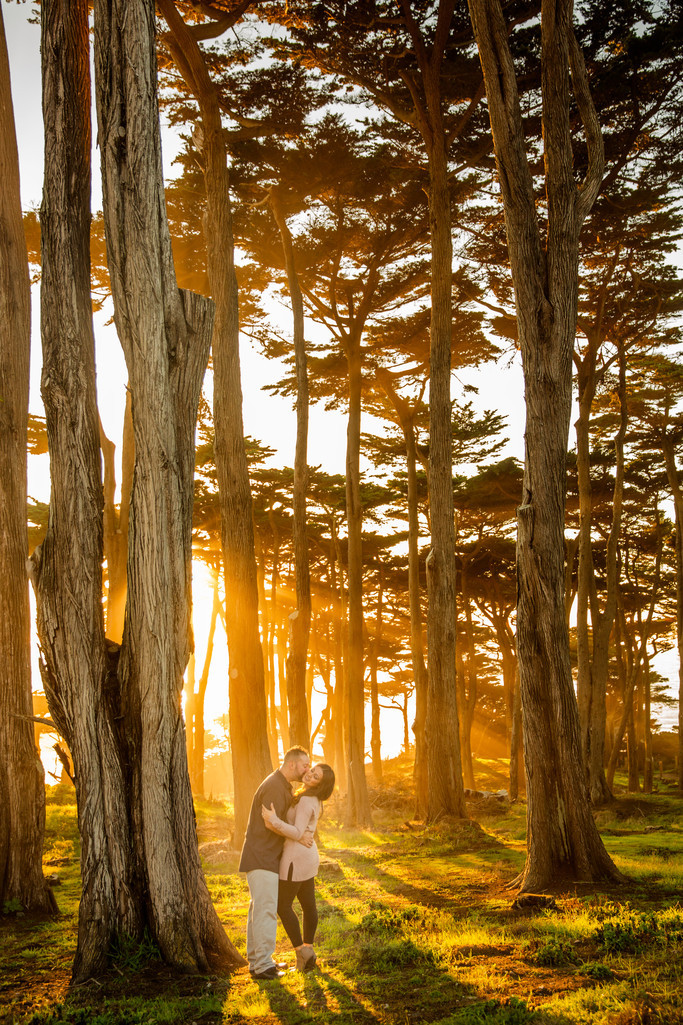 creative sutra baths engagement session San Francisco