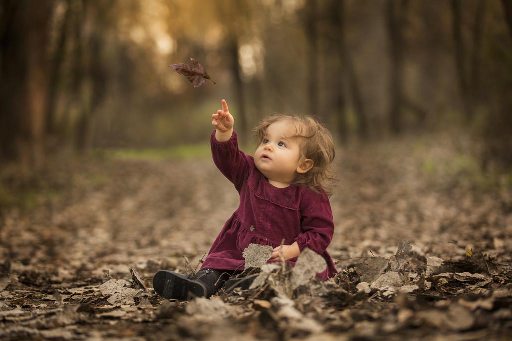 Falling Leaf children's portrait