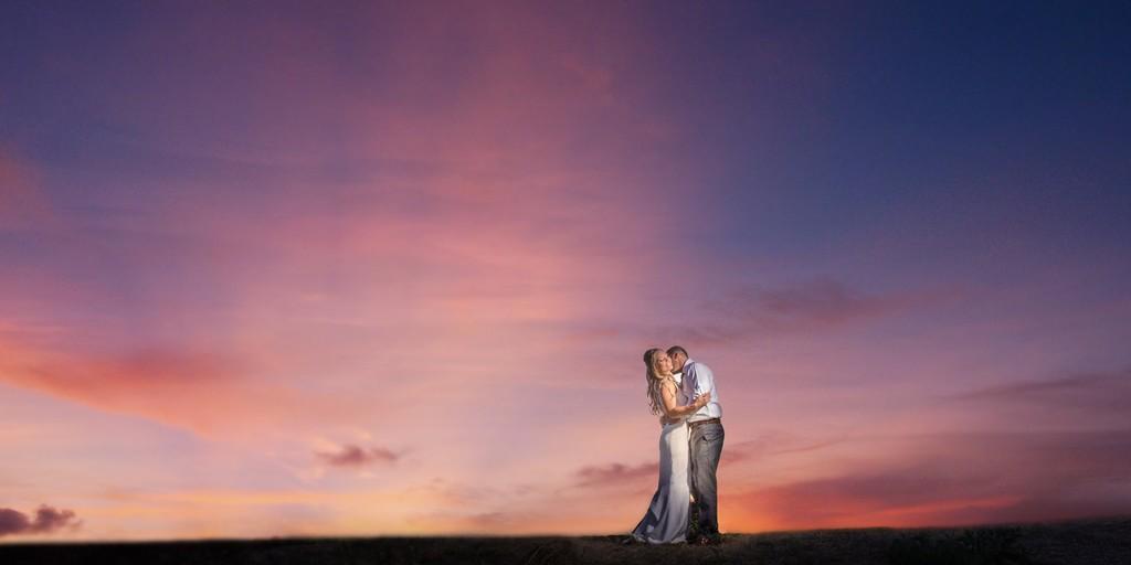 Carmel Valley Sunset Wedding photos