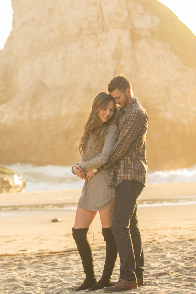 Couples at Shark Fin Cove Davenport California