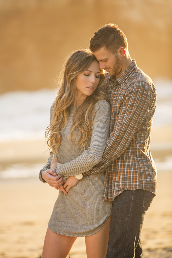 Beautiful Sharkfin Cove Engagement Session