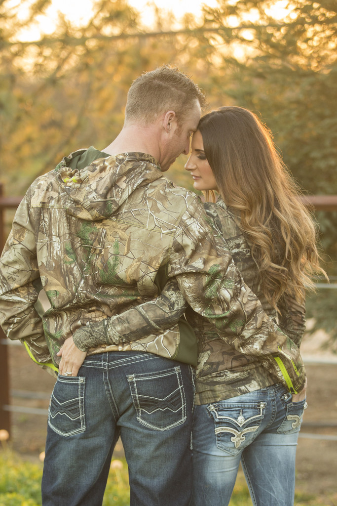 Hunters camo engagement session Bay area photographer