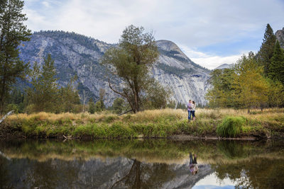 Reflective Yosemite Engagement session
