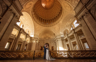 Romantic San Francisco City hall wedding Photography