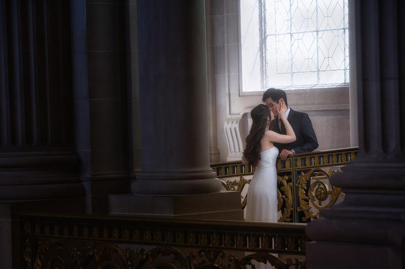couple under window light