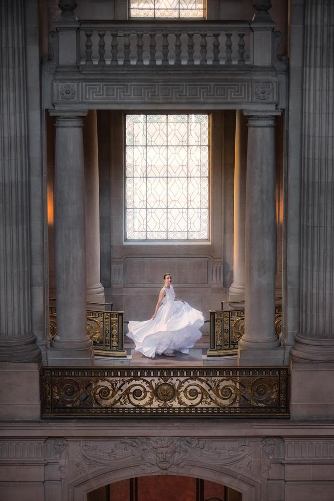 bride in rembrandt lighting