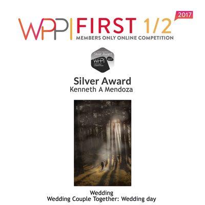 WPPI Silver Award 2017 Wedding Couple Together