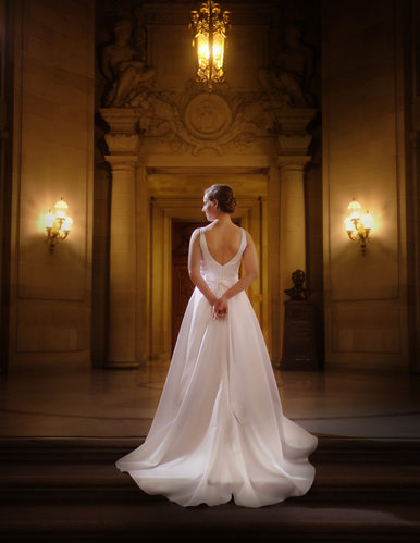 Wedding Dress in the Rotunda