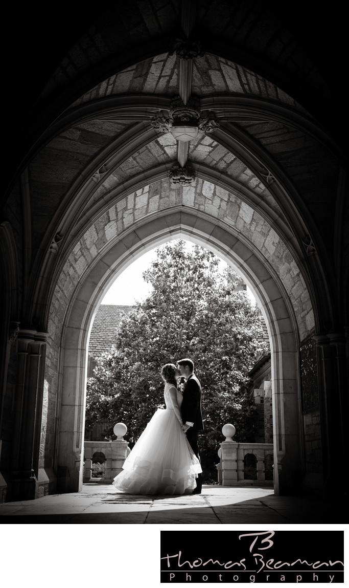 Princeton University Wedding Photo in Perfect Light