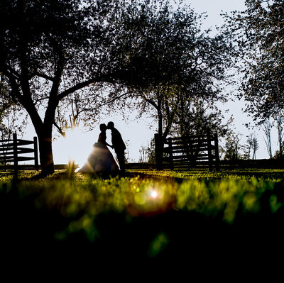 Ironstone Ranch Wedding Photo at Sunset
