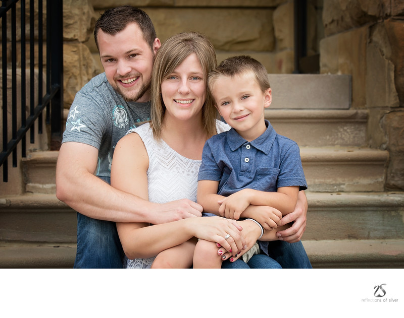 Family of Three Fort Wayne Family Photographer