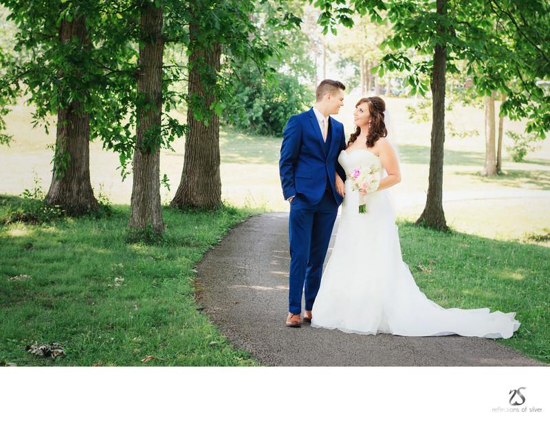 Outdoor Wedding Photography in June Fort Wayne