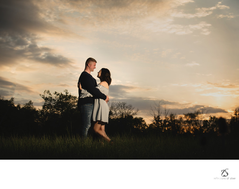 Engagement Photographers Fort Wayne - Sunset Session