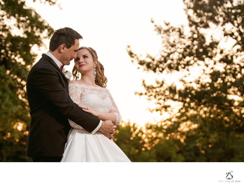 Indiana Weddings Bride and Groom Sunset Photos