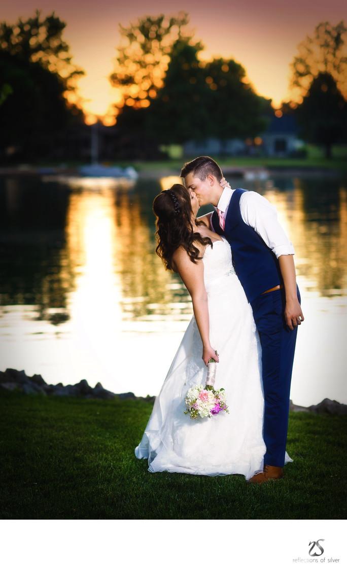 sunset wedding photography fort wayne