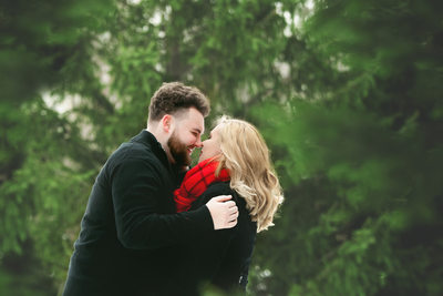 Winter Engagement Photos Fort Wayne Indiana