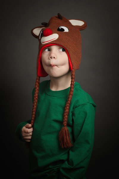 Silly Christmas Studio Photo