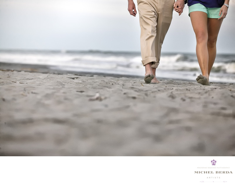 Beach Engagement Photographer Charleston Sc