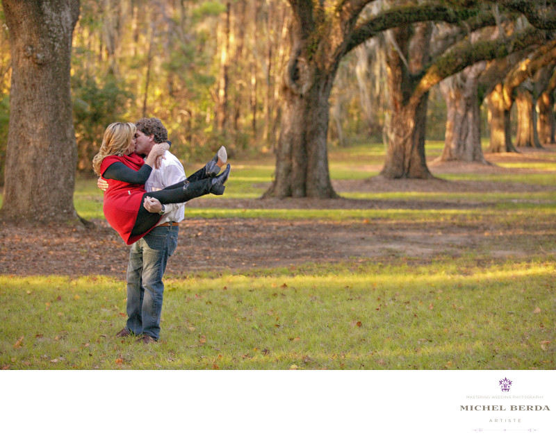 Boone Hall Plantation Engagement Photographer