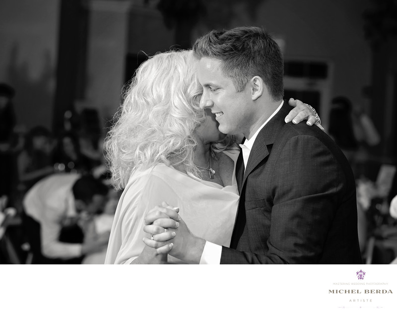Mom ans son first dance at Palmetto Hall Wild Dunes Resort