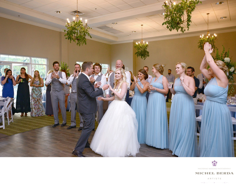 Bride And Groom Intro at Palmetto Hall Wild Dunes Resort