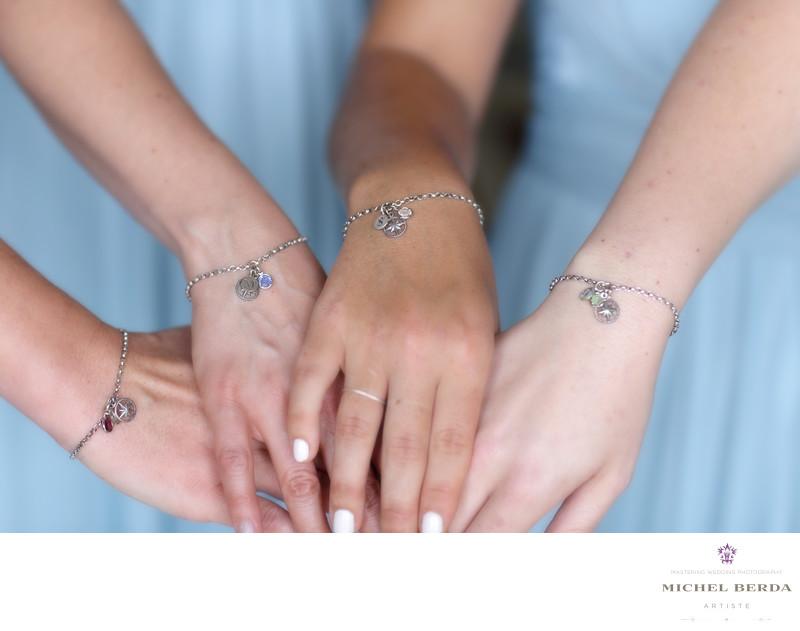 Bride gift to bridemaids Wild Dunes Resort Wedding