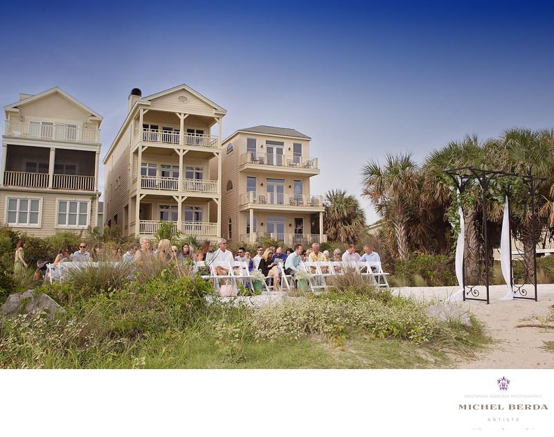 Ceremony at Sea Side Point Wild Dunes Resort Wedding