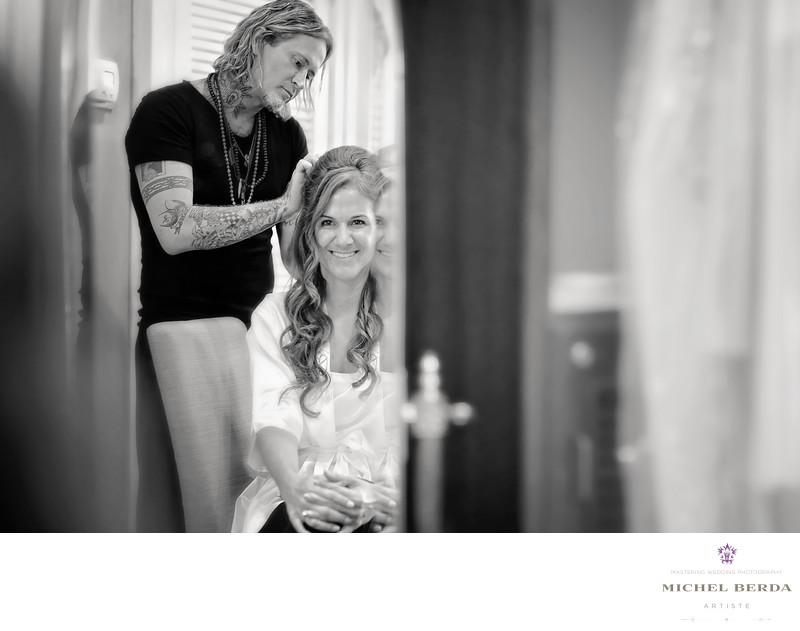 Bride hair & makeup Dunes West Golf & River Club
