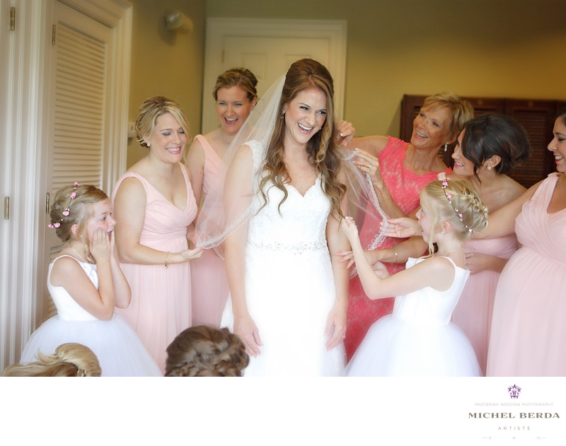 Bride mom & bridesmaids getting ready at Dunes West Golf & River Club