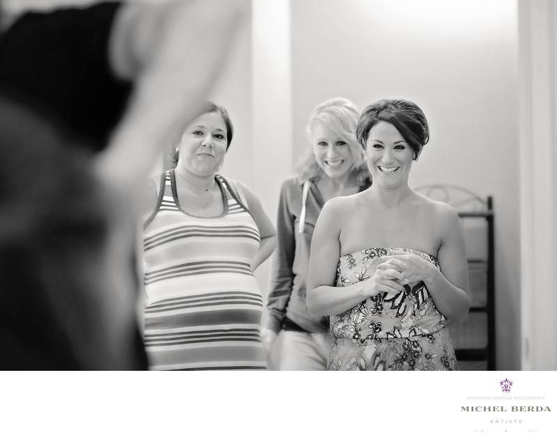 Bridesmaids dressing room Dunes West Golf & River Club